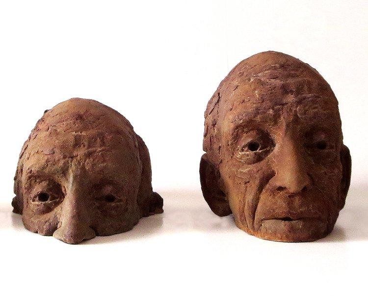 POP UP MOSSES Iron resin Bev Knowlden Sculpture