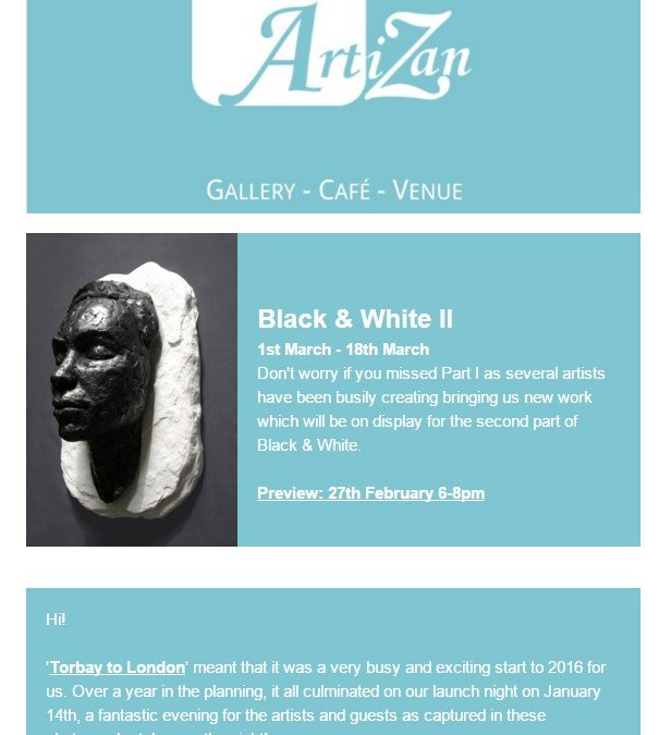 Artizan Gallery Newsletter