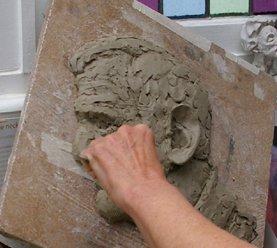 bev knowlden sculpture bas relief