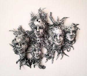 Child 5 Wraith sculpture Jesmonite Acrylic