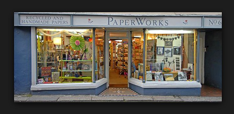 Wraiths displayed in Totnes Shop: Paperworks