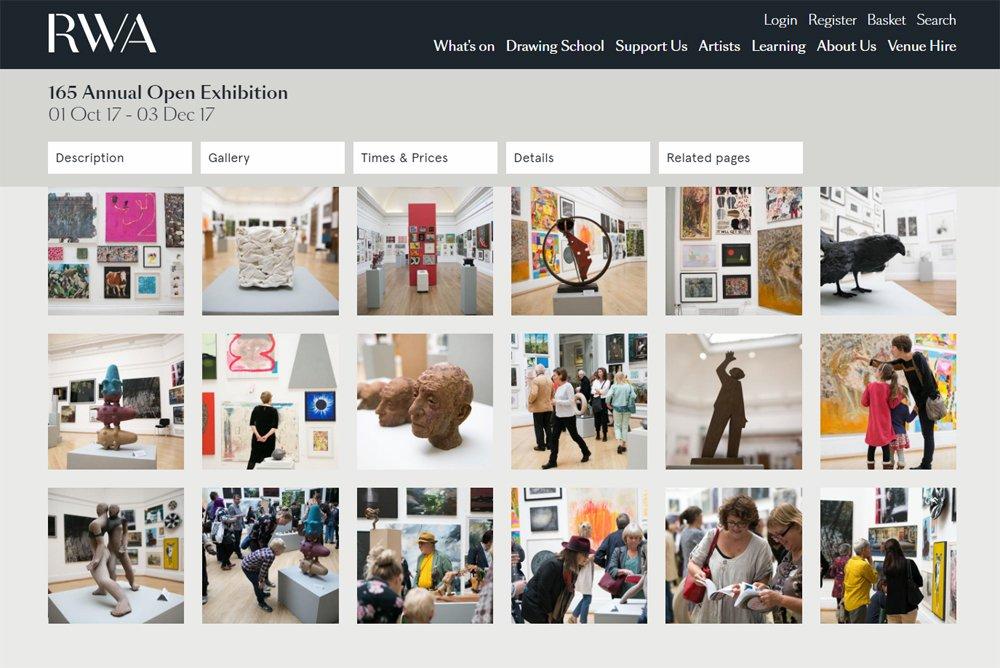 Royal West of England Academy Website