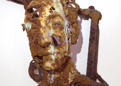 TRACES OF US 2  Iron resin/jute/reclaimed metal