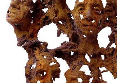 Mug Shots Iron resin/jute Bev Knowlden Sculpture