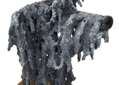 DEARHOUND  29cm x  34cm x 24cm FOR SALE £550.00 Exhibited at Radius 68 Gallery, Budleigh Salterton. Tel: 07443 542987 EM: info@bevknowldensculpture.com